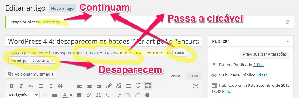 Editor muda no WordPress 4.4