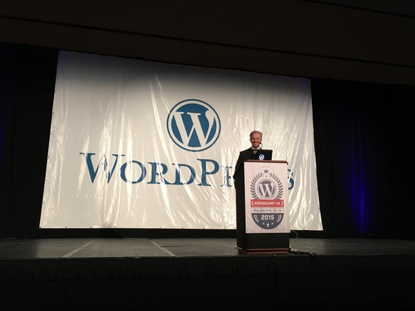 Matt Mullenweg no WordCamp US