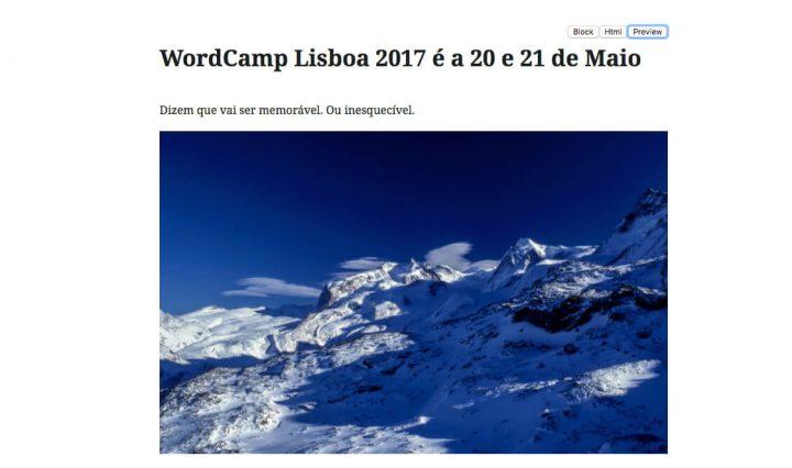 Novo editor do WordPress será conhecido em Junho