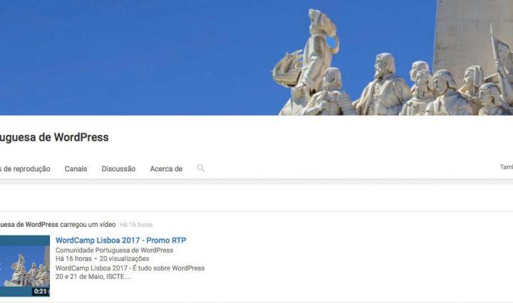 Comunidade Portuguesa de WordPress com canal oficial no YouTube