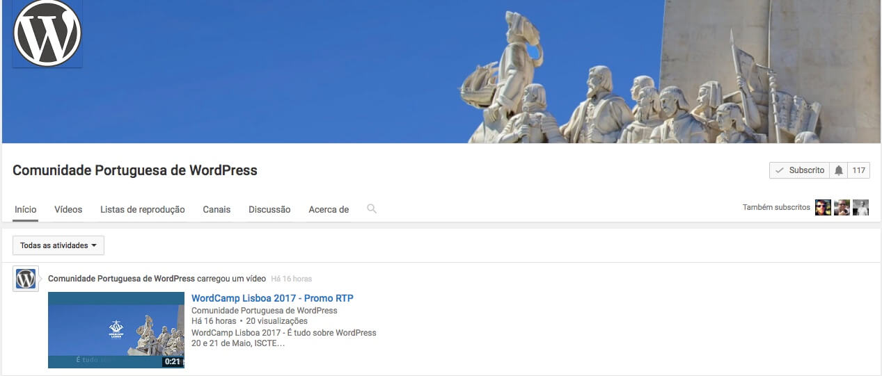 Comunidade Portuguesa de WordPress com canal oficial no YouTube