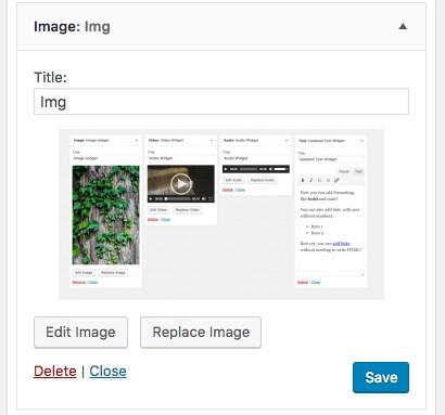 Widget de imagem
