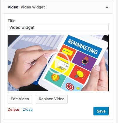 Widget de vídeo