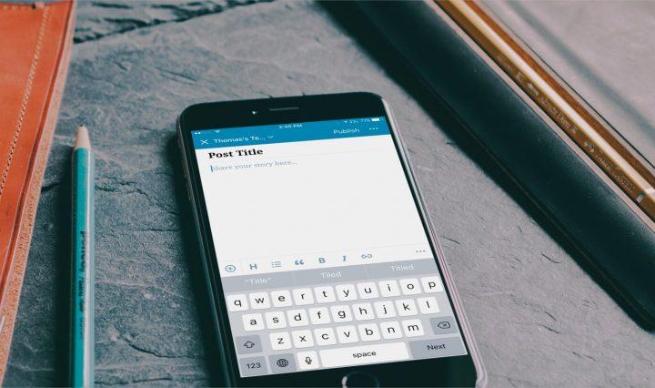 há um novo na aplicação móvel do WordPress. Chama-se Aztec