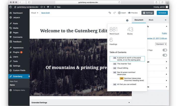 Gutenberg chegou à versão 1.2