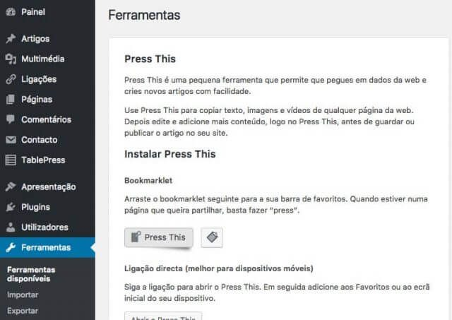 Press this é agora um plugin