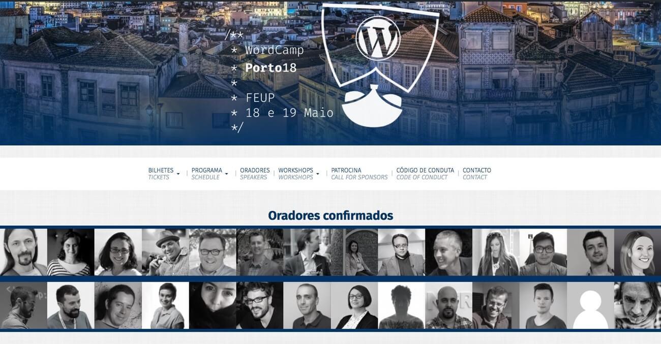 WordCamp Porto 2018 oradores