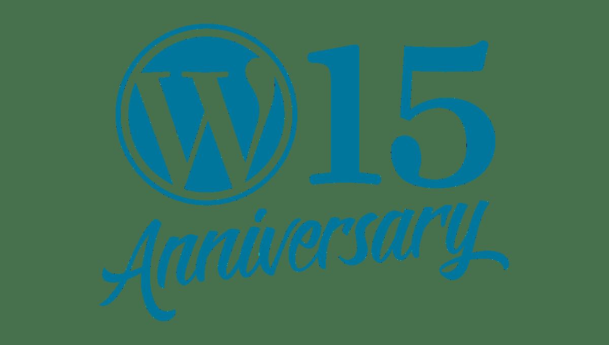 WordPress 15 anos