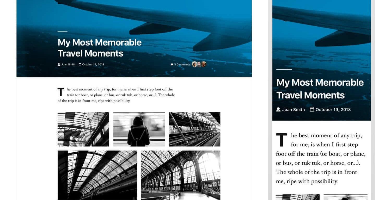 tweenty nineteen será o novo tema por omissão do WordPress